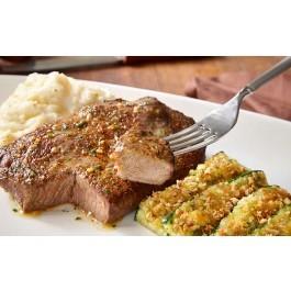 6 oz Sirloin With Fettuccine Alfredo* - Beef & Pork