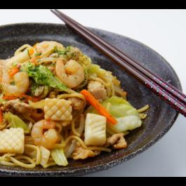 Shrimp Yaki Udon or Soba