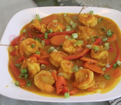 Shrimp w. Curry Sauce (Hot & Spicy)