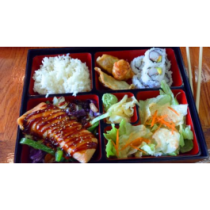 Salmon Teriyaki Bento Box (LUNCH)