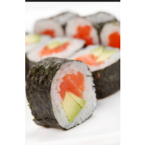 Salmon Avocado Roll or Hand Roll