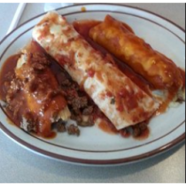 Lunch Combo 7- Burrito, Enchilada and Tamale