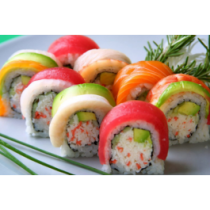 Rainbow Roll (Raw)