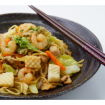 Shrimp Yaki Udon or Soba
