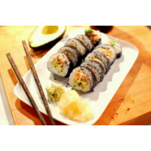Spicy Crab Stick with Tempura Flake Roll or Hand Roll